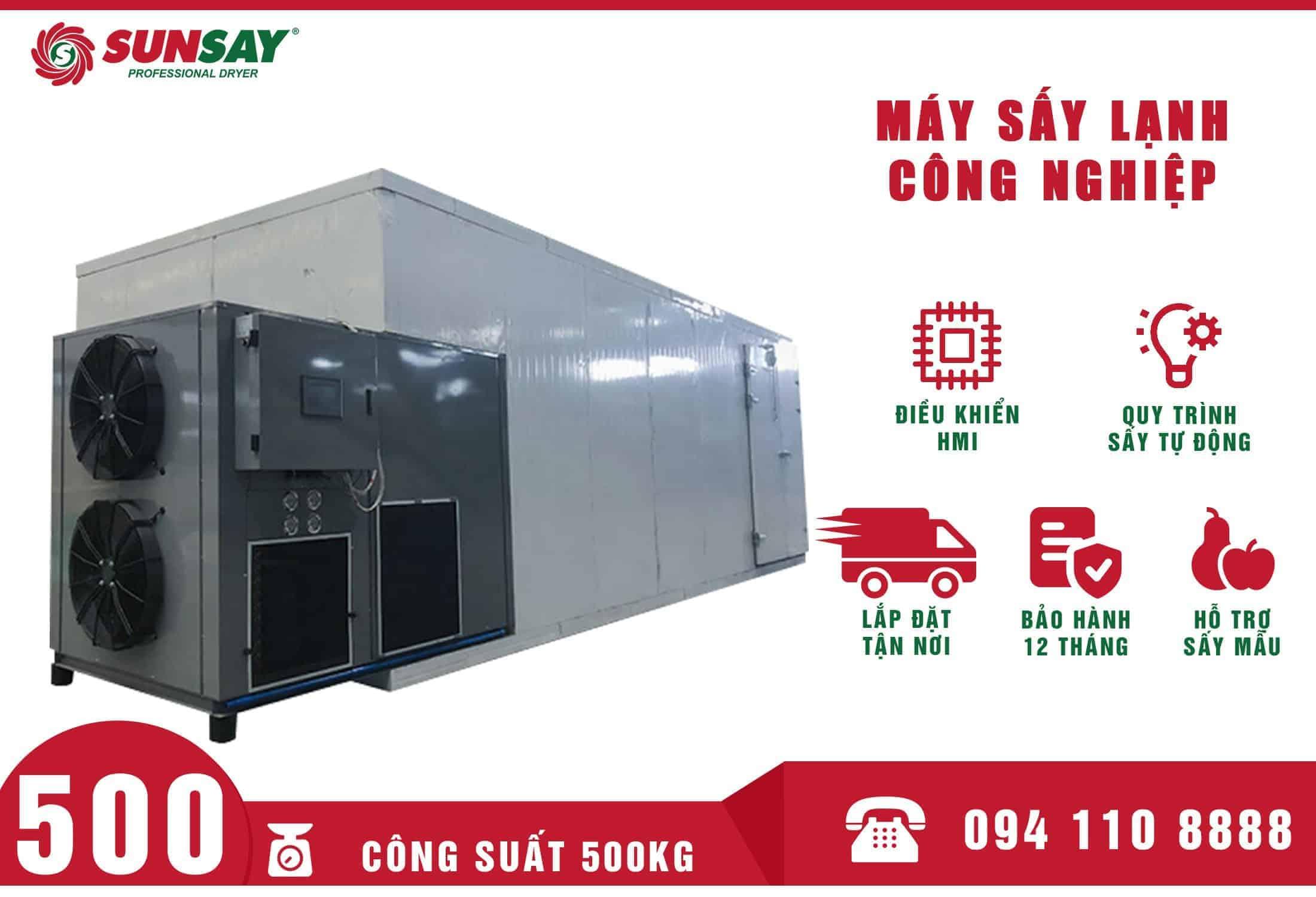 Máy sấy lạnh công nghiệp 500 Kg SUNSAY